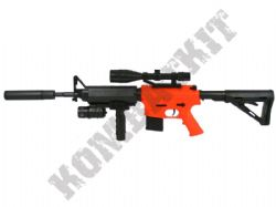 P1158 BB Gun M16 Replica Spring Airsoft Rifle 2 Tone Orange Black